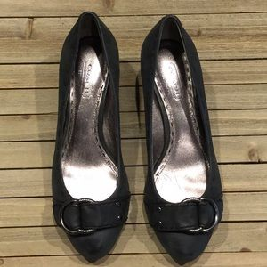 New Coach black wedge shoes size 5.5